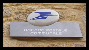 Enseigne Agence Postale Communale de Javols.
