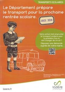 Affiche transport scolaire 2015-2016