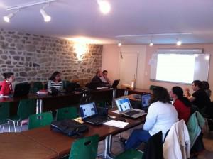 Réunion de formation au nouveaux sites Internet par AFA Multimedia